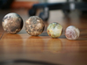 The four Galilean satellites to scale 3d printed
