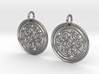 Norse Motif Round Earrings 3d printed
