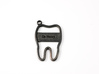 Tooth Keychain 3d printed Custom Tooth Keychain in Polished Grey Steel