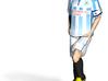 Footballer mini figure example 3d printed