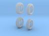 1963 Dunlop F1 tires 1/24 scale 3d printed