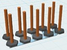 Tube Stanchion Barricade 1-87 HO Scale 3d printed
