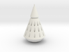 Rocket Nose Cone with Tip 3d printed
