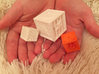 Quadruplets! Tactile Texture Dice, hollow 3d printed a photo comparing 3 of our dice...
