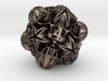 Floral 2 - D20 balanced gaming die 3d printed