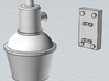 HO scale (1/87) Security Lights (6-pack) 3d printed