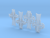 Atomic Cross Pendant - All Variations (Set of 4) 3d printed