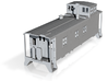 HO scale DRGW 01400 series caboose 3d printed