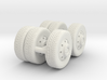 1/64 FDNY seagrave communication truck wheels 3d printed