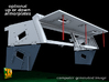 M5 Halftrack conversion with M5A1 Lights 3d printed M5 with M5A1 lights - armor plates window