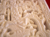 """Pakal's tomb stone lid - aka """"The Mayan Spaceship"""" 3d printed detail: the """"Astronaut"""""""
