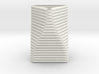 Curved Structure Short Column - Rigid Accordion 3d printed