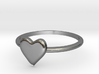 Heart-ring-solid-size-7 3d printed