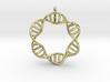 DNA Round Pendant 3d printed