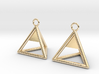 Pyramid triangle earrings Serie 2 type 1 3d printed