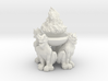 Brazier:  Demon Brazier with Flames 3d printed
