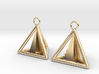 Pyramid triangle earrings Serie 2 type 3 3d printed