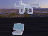 Quadcopter camera drone + controller, HO scale x4 3d printed