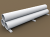 TT Scale Smmps Wagon Steel Tubes Cargo 3d printed TT Scale Smmps Wagon Steel Tubes Cargo