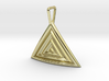 Triangular Ripple Pendant 3d printed