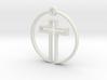 Cross in Circle 3d printed
