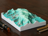 Mt. Logan, Yukon, Canada, 1:250000 Explorer 3d printed Old color scheme! Photo of Mt. Logan at 1:250k, seen from the ESE