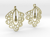 Granada Earrings (Curved Shape). 3d printed