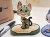 Happy Cat (3.3in with Base) 3d printed