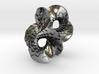 Round Mobius checkerboard earrings 3d printed