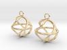 Twist ball earrings 3d printed