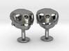 Loggerhead Cufflinks With Mandible 3d printed