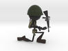 Stickman Soldier 3d printed