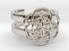 SEED OF LIFE DOUBLE BAND RING 6 3d printed