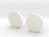 White Lantern Cuff Links 3d printed