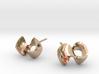 Infinity knot earrings 3d printed