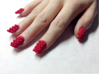 Cube Nails (Size 3) 3d printed Red Strong and Flexible Polished