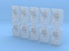10x Kings Fists - Marine Shield w/Hand 3d printed