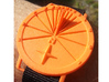 27.75N Sundial Wristwatch With Compass Rose 3d printed Orange Strong & Flexible Nylon At 4PM