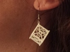 Cubesat Earrings 3d printed