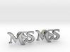 Monogram Cufflinks MSS 3d printed