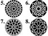"4"" Custom Rose Window Coaster 3d printed Choose from designs 5-8"