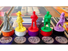 Argent Bases - Sorcery (7 pcs) 3d printed Picture courtesy of user kevinpdx on BGG. Game miniatures and board copyright Level99 games.