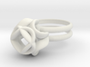 Single Rose Ring size 1 3d printed