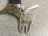 Tooth Initial Keychain (Custom) 3d printed Custom Tooth Keychain in Stainless Steel