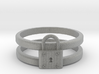 Padlock Double-banded Ring 3d printed
