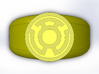 Yellow Lantern Ring 3d printed