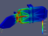 Dual XGPS 160 Mount 3d printed FEA simulation showing von Mises stresses during a 200G accident