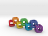 Fixed Link Chain Rainbow Cube 3d printed
