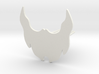 Beard icon for beard - front wearing 3d printed
