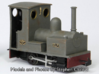 OO9 Bagnall 0-4-0 for Minitrains Chassis 3d printed Model and Photo by Stephen Clulow